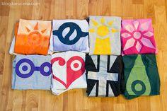 Digimon crest shirts