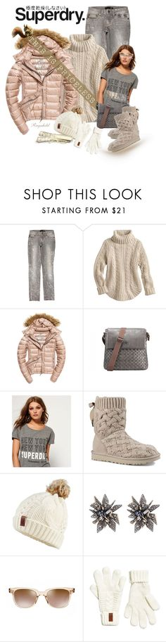 """""""The Cover Up – Jackets by Superdry: Contest Entry"""" by ragnh-mjos ❤ liked on Polyvore featuring Just Cavalli, Superdry, Fuji, UGG, Alexis Bittar and Oliver Peoples"""
