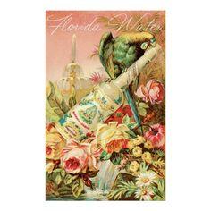 Vintage Perfume Ad, Rose Water Print
