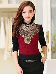 Women's Long  Sleeve  Fashion  Shirt – USD $ 21.59