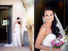 Happy bride. Maggie Sottero Ombre dress