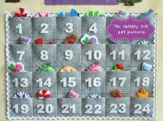 Gingerbread House Advent Calendar Pattern  24 Ornaments