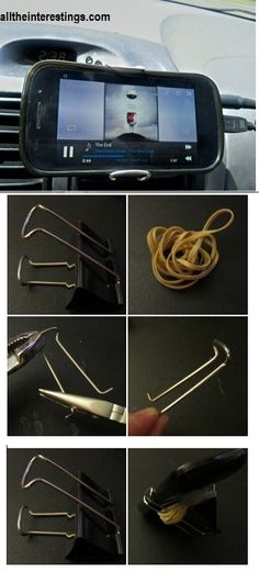 DIY Car cellphone holder (Car Smartphone Mount)