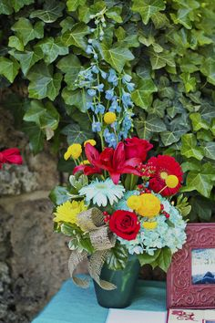 Turquoise, Red, Yellow And Burlap Wedding Inspiration Tulip Wedding, Wedding Flowers, Vows, Wedding Inspiration, Wedding Ideas, Getting Married, Tulips, Cute Pictures, Burlap