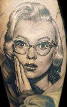 Beautiful Marilyn Monroe portrait by James Tattoo Art