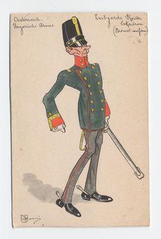 K.u.K. Leibgarde Reiter Eskadron, Oberleutnant in Dienst-uniform, c.1900 Military Uniforms, Prince Charming, Caricature, Austria, War, Pictures, War Bond, Army, Postage Stamps