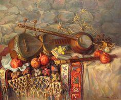 still-life-with-armenian-musical-instruments-duduk-thar-and-qyamancha-meruzhan-khachatryan.jpg (900×751)