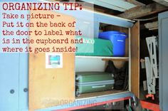 This is SUCH a great tip for organizing inside the cupboards -- and EASY!