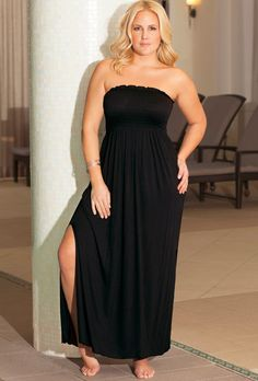 (Come on get your gift swim suits and dresses at swimsuit for women)b. belle Midnight Plus Size Smocked Maxi Dress