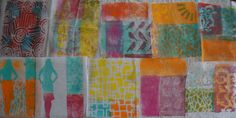 Ginger Wilson - Gelli printing on interfacing fabric experiment