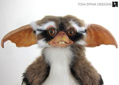 """BEFORE - original Gremlins 2, the New Batch """"Lenny"""" Mogwai puppet, in the studio for light touch up."""