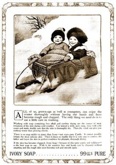 a sweet Ivory Soap ad from the December 1912 issue of McCall's magazine   Read more at http://www.vintagefangirl.com/printable-vintage-ivory-...