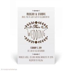 Custom Wedding Stamp - Wedding Invitation Stamp - Custom Rubber Stamp - Personalized Stamp - Custom Stamp - Wreath, Modern - W11 by modernartstamps on Etsy https://www.etsy.com/listing/178442093/custom-wedding-stamp-wedding-invitation