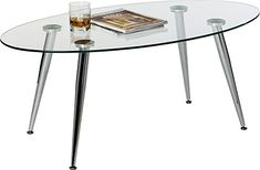Mango Steam Pacifica Coffee Table Oval Clear Tempered Glass Top and Chrome Tube Base *** Much more info might be found at the image link. (This is an affiliate link). Sofa Side Table, End Tables, Coffee Tables, Living Room Modern, Glass Table, Home Kitchens, Chrome, Indoor, Mango