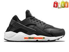 Nike Air Huarache GS - Nike Sportswear Pas Cher Chaussure Pour Femme/Garcon Noir/Noir-Blanc 634835-006