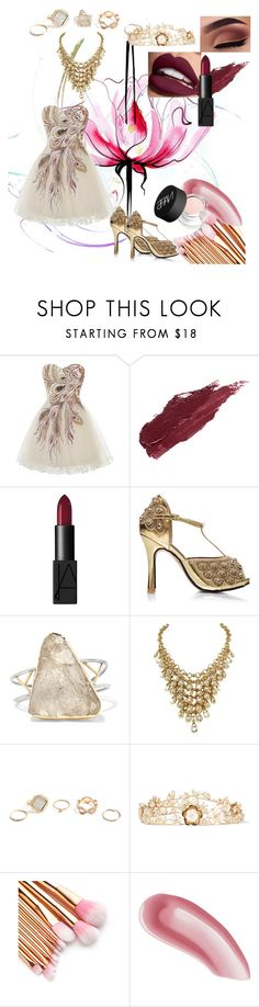 """Brush Strokes"" by georgiabrt ❤ liked on Polyvore featuring Lancôme, Lily Lolo, NARS Cosmetics, Melissa Joy Manning, GUESS, Rosantica and Laura Mercier"