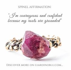 Spinel affirmation - High quality positive energy jewelry handmade in Milan by Giardinoblu Jewelry