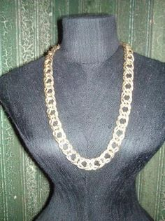 "3/8"" Wide Double Link Chain Necklace, 16"" Longyardsellr.com/for_sale?pap=23538#!/38-wide-double-link-chain-necklace-16-long-4332323"