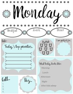 Free printable daily to-do list - Simply Happy Mama To Do Planner, Planner Pages, Life Planner, Happy Planner, Planner Ideas, Teacher Planner, Blog Planner, Planner Template, Printable Planner
