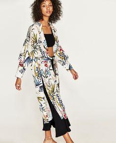 veste kimono fleurie zara