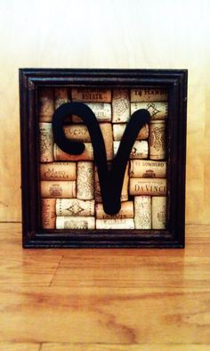 Wine Themed Shadow Box. Perfect for our wine kitchen :) we have enough already . Just need different letter on glass!!