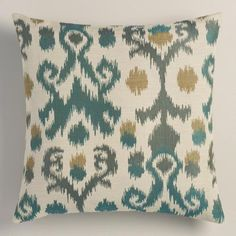 One of my favorite discoveries at WorldMarket.com: Blue Ikat Jacquard Throw Pillow