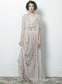 Juliette Hogan long floral dress
