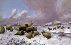 British Paintings: Thomas Sidney Cooper - Sheep in the Snow