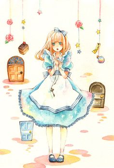 Iinuma Chika. I just adore this artist's use of watercolor. ♥