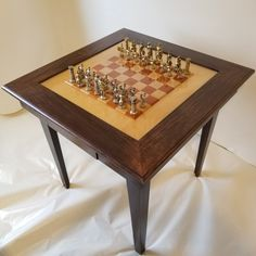 Custom made combination domino table and chess table. Game Room Tables, Table Games, Domino Table, Chess Table, Custom Made, Furniture, Home Decor, Mesas, Board Games