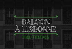 Balcon a Lisbonne Font | dafont.com
