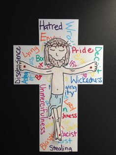 Jesus crucified for our sins: Matthew Luke John 42 – Bible Crafts for Your Kiddos Sunday School Activities, Bible Activities, Church Activities, Sunday School Lessons, Sunday School Crafts, Jesus Crafts, Bible Story Crafts, Bible Crafts For Kids, Bible Lessons For Kids