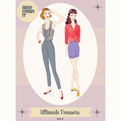 Sew Over It Ultimate Trousers Sewing Pattern - Guthrie & Ghani