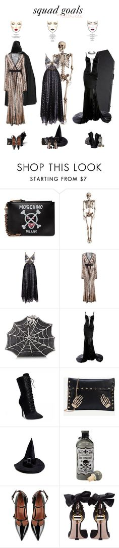 """""""Sympathy For The Devil, Guns N Roses"""" by blendasantos ❤ liked on Polyvore featuring Moschino, Elie Saab, Agent Provocateur, Bernard Delettrez, Dolce&Gabbana, RED Valentino, Miu Miu, M.A.C, Humble Chic and Halloween"""