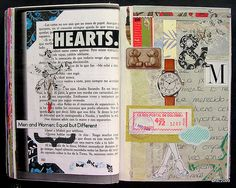If you are interested in, have a love for, or just want to drool over some great Art Journaling,. Journal Paper, Art Journal Pages, Art Journaling, Artist Research Page, Altered Book Art, Glue Book, Watercolor Journal, Art Journal Inspiration, Journal Ideas