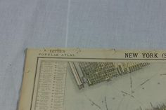 2x ORIGINAL VICTORIAN NEW YORK MAPS FROM LETTS'S POPULAR ATLAS 1883 - P131/2 in Antiques, Maps, North America | eBay
