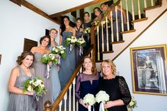 The bridal party poses with the bride and groom's mothers before an elegant wedding in Brookhaven, New York. #IDo #BridalParty #WeddingPhotographerNewYork #BrideAndGroom #Bridesmaids #MaidOfHonor #NewYorkWeddingPhotographer