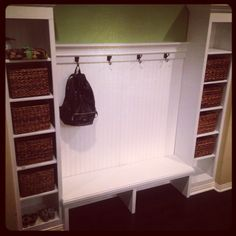 """Our Backpack """"Mudroom"""" Bench Area"""