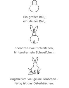 Bunny drawing saying – kindergarten – - Hase