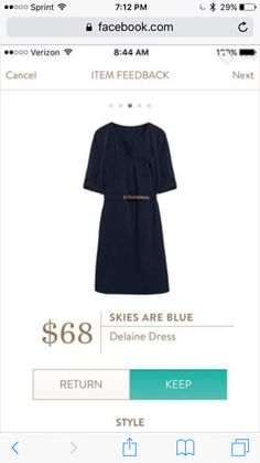 38d70d4f9e Hope - I've always wanted a navy shirt dress. Would look great with a cute  pair of booties (hint, hint!