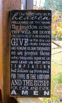 The LORDS Prayer Primitive Rustic Distressed by AmericasFrontPorch, $40.00