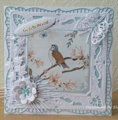 Easel Cards, Bird Cards, Marianne Design, Pretty Cards, Cardmaking, Birthday Cards, Decorative Boxes, Joy, Floral