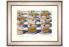 "Wayne Thiebaud's ""Folsom Street Fair Cake,"" 16""x20"" with silver frame from MunnWorks on OneKingsLane.com $349"
