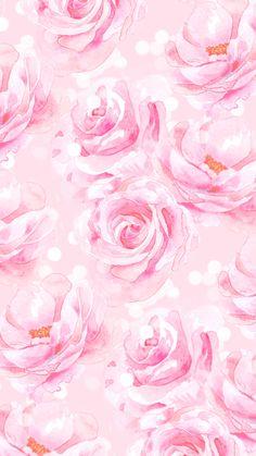 By Artist Unknown. Love Pink Wallpaper, Flower Phone Wallpaper, Rose Wallpaper, Wallpaper Iphone Cute, Cute Wallpapers, Backgrounds Girly, Wallpaper Backgrounds, Collage Background, Fractal Art