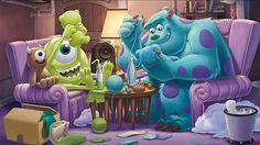 Pixar Movies, Disney Movies, Disney Characters, Fictional Characters, Disney Stuff, Disney And Dreamworks, Disney Pixar, Mike And Sully, Monster University