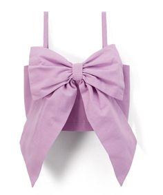 Little Miss Fashion Purple Bow Spaghetti Strap Tank - Toddler & Girls   zulily