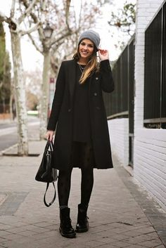 Black coat , \u0026quot;Outfit ideas, by Chicisimo\u0026quot; Fashion