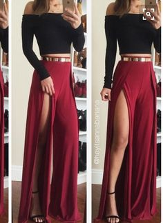Double slit maxi skirt                                                                                                                                                                                 More