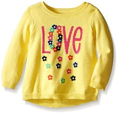 The Childrens Place BabyGirls Love Graphic Hilo Sweater Sunshine 1218 Months ** Click image to review more details.