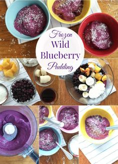 Frozen Wild Blueberry Pudding | Perfect Dessert or Snack | Treat yourself to this frozen mix of wild blueberries, cottage cheese, banana, and mango | Healthy & Deliciouss! via @MealMakeoverMom @wildbberries